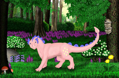 Pink Dragon in my Forest Set
