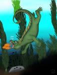 Pacific Sea Dragon (digital redraw) by CherokeeGal1975