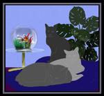 Three Cats WIP by CherokeeGal1975