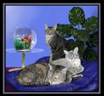 Three Cats by CherokeeGal1975