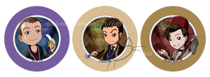 Doctor Who Buttons series 1 by nozomi-neko