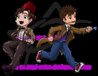 Doctor Who Chibis by nozomi-neko