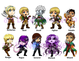 DnD Chibi collection 1-10