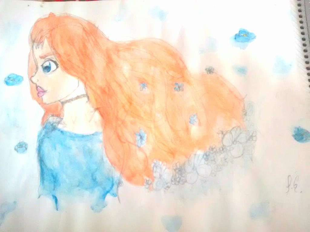 blue flowers by poseidongal1