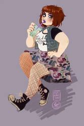 Mermaid Girl Gang Skirt by AshHavynn