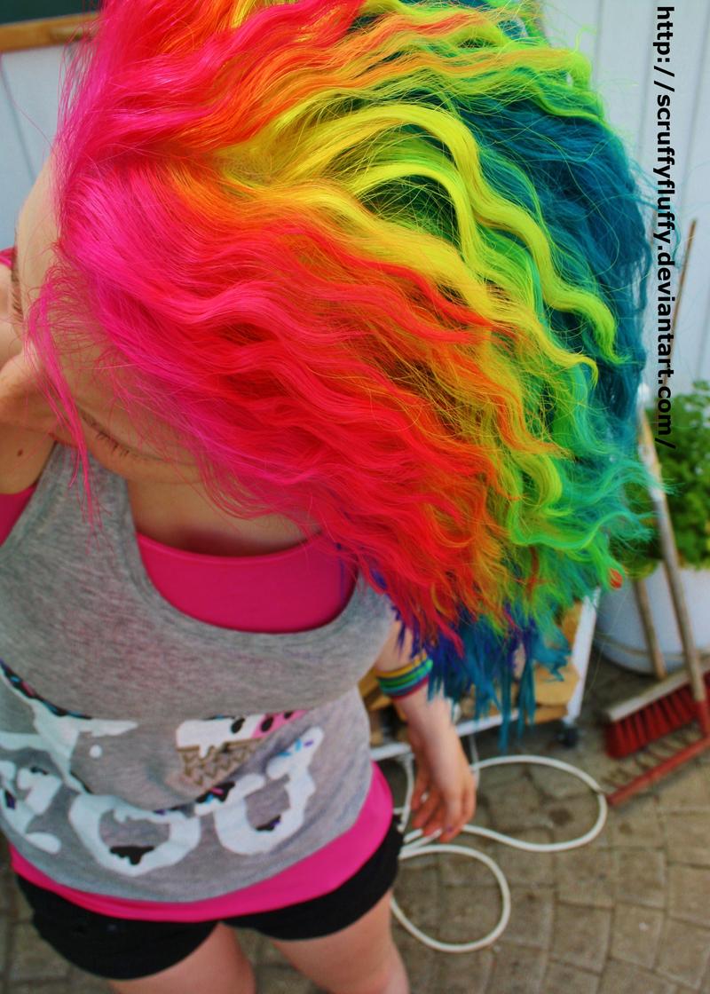 Curly rainbows by ScruffyFluffy