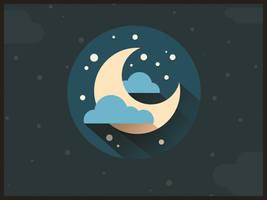 Moon flat icon.