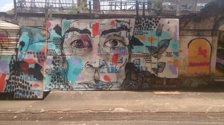 Grafitti no bairro Monte Alegre em Piracicaba
