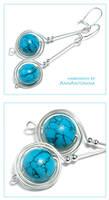 Turquoise Howlite - earrings by AnnAntonina