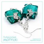 Turquoise Butterfly - earrings by AnnAntonina