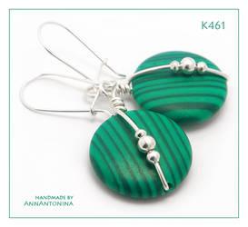Malachite Green Earrings K461 by AnnAntonina