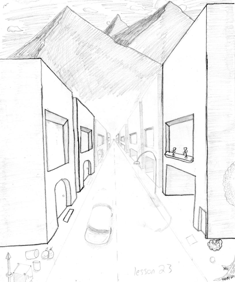 1 Point Perspective By M8jin12 On Deviantart