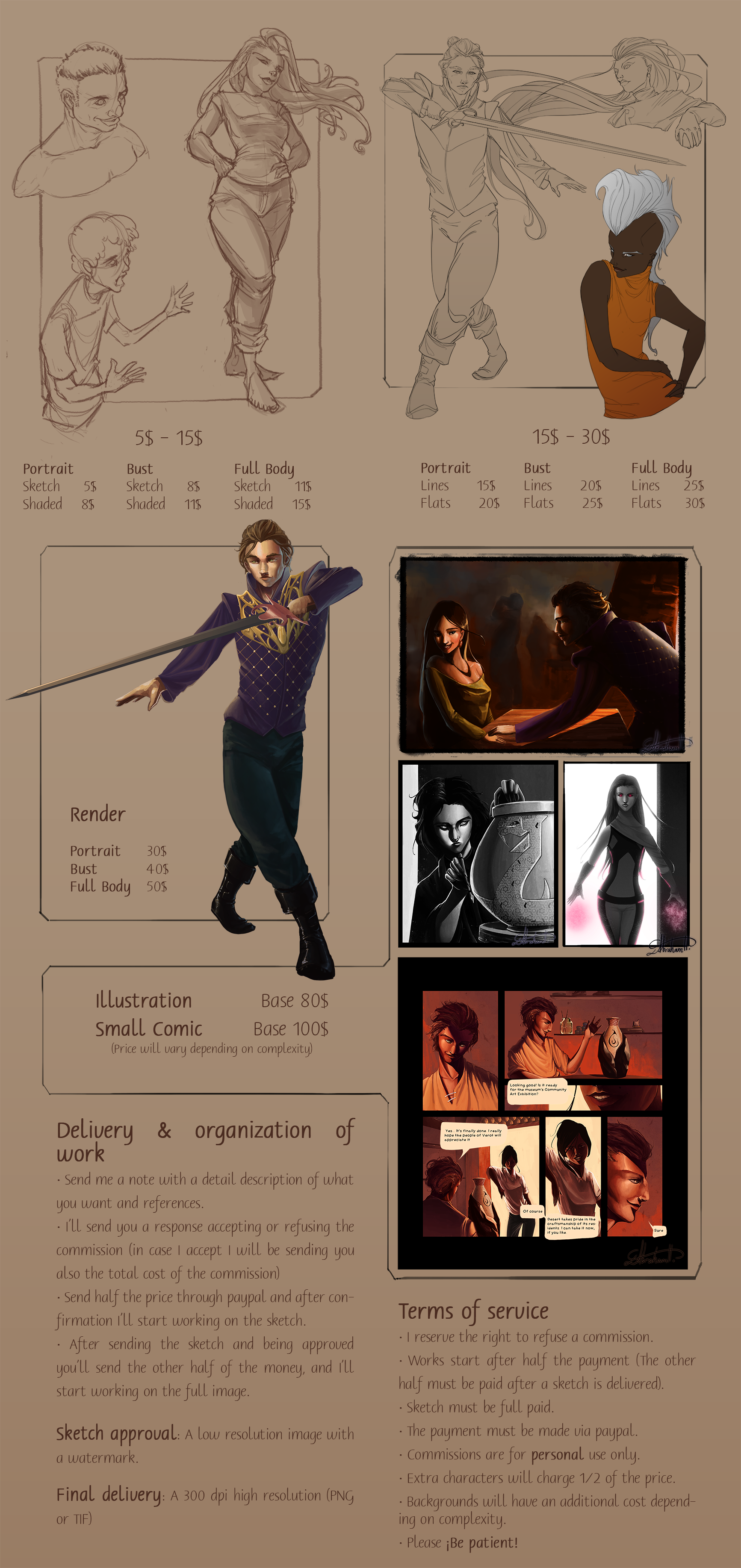 Comission Information Sheet by abrahamdavid