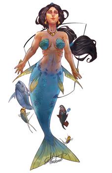 [Comm] Mermaid Jasmine