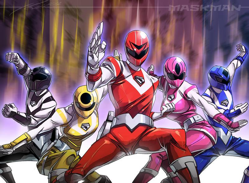 Hikari Sentai Maskman by kevinTUT