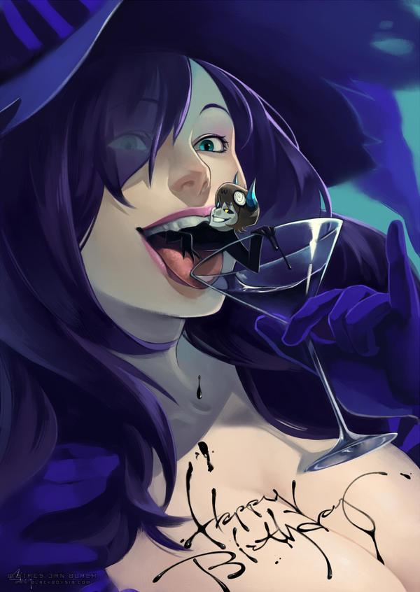 BIRTHDAY WINE by EvilApple513