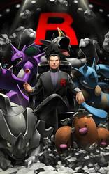 TEAM ROCKET LEADER by EvilApple513