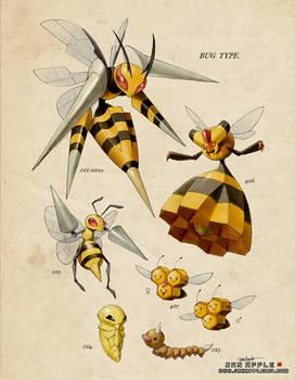 [PKMN Vintage Bug Type - Bees]