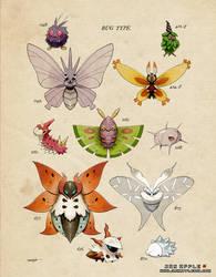 [PKMN Vintage Bug Type - Moths]