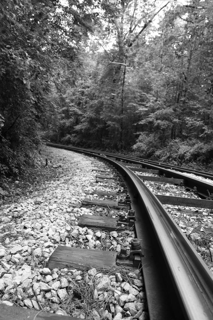 Rails black'n'white I by CULAter-stock