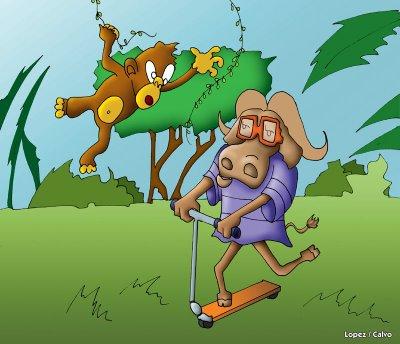 mono y el buey en patin by joseglopez