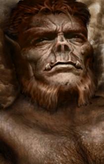 Half Orc Portrait BG Portrait - Gahesh by Lava-