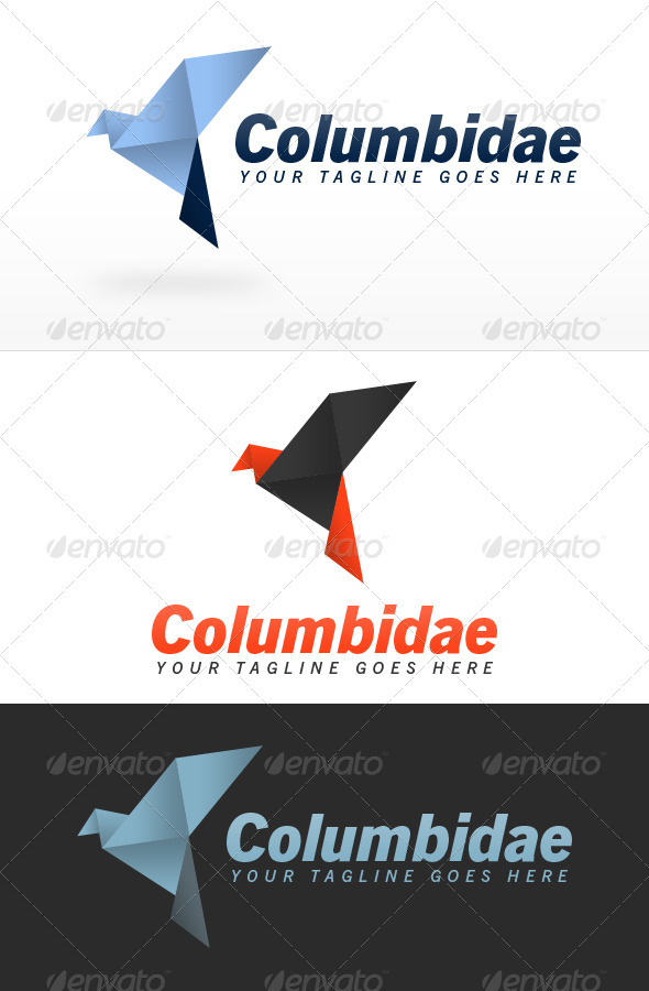 Origami Dove Logo Template by ZRobert