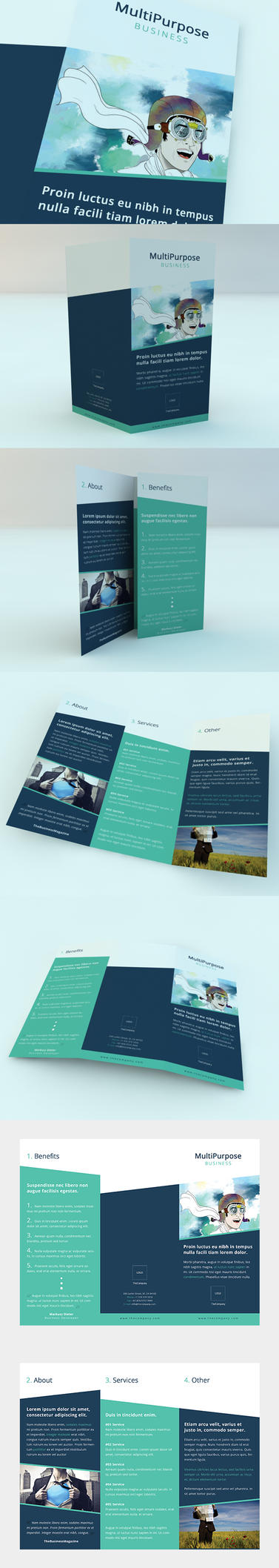 Clean Minimalistic Brochure (Tri-Fold) by ZRobert