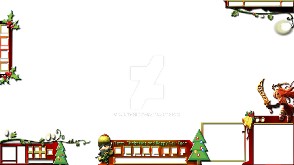 christmas stream overlay league of legends by kireaki - Christmas Overlays
