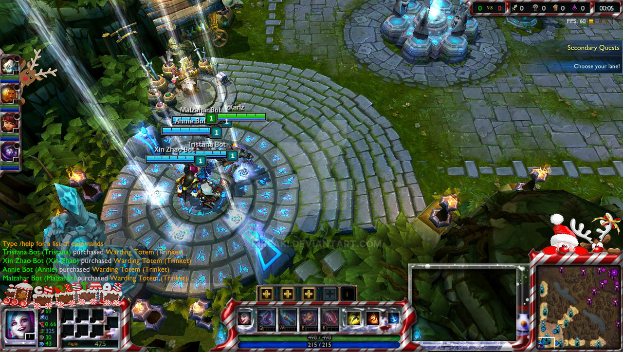 Christmas twitch stream overlay League of Legends by Kireaki on ...