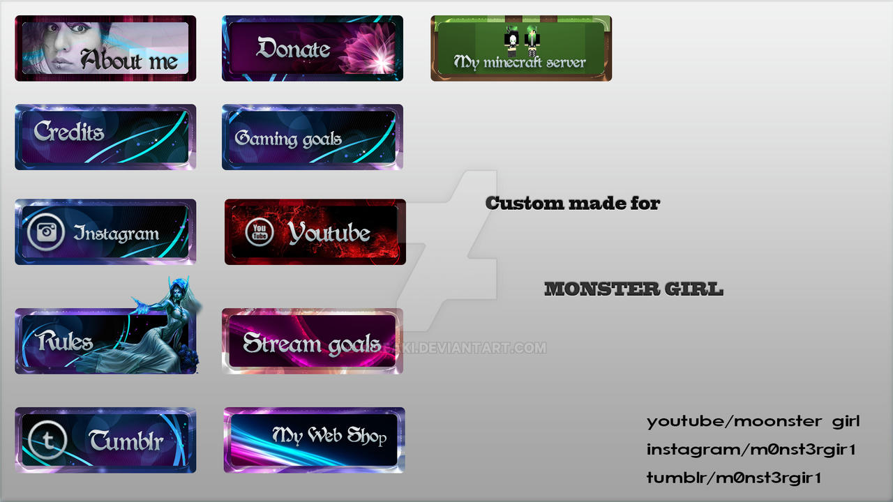Free Twitch Panel Pack Psd Design Freebies T Free – Fondos de Pantalla