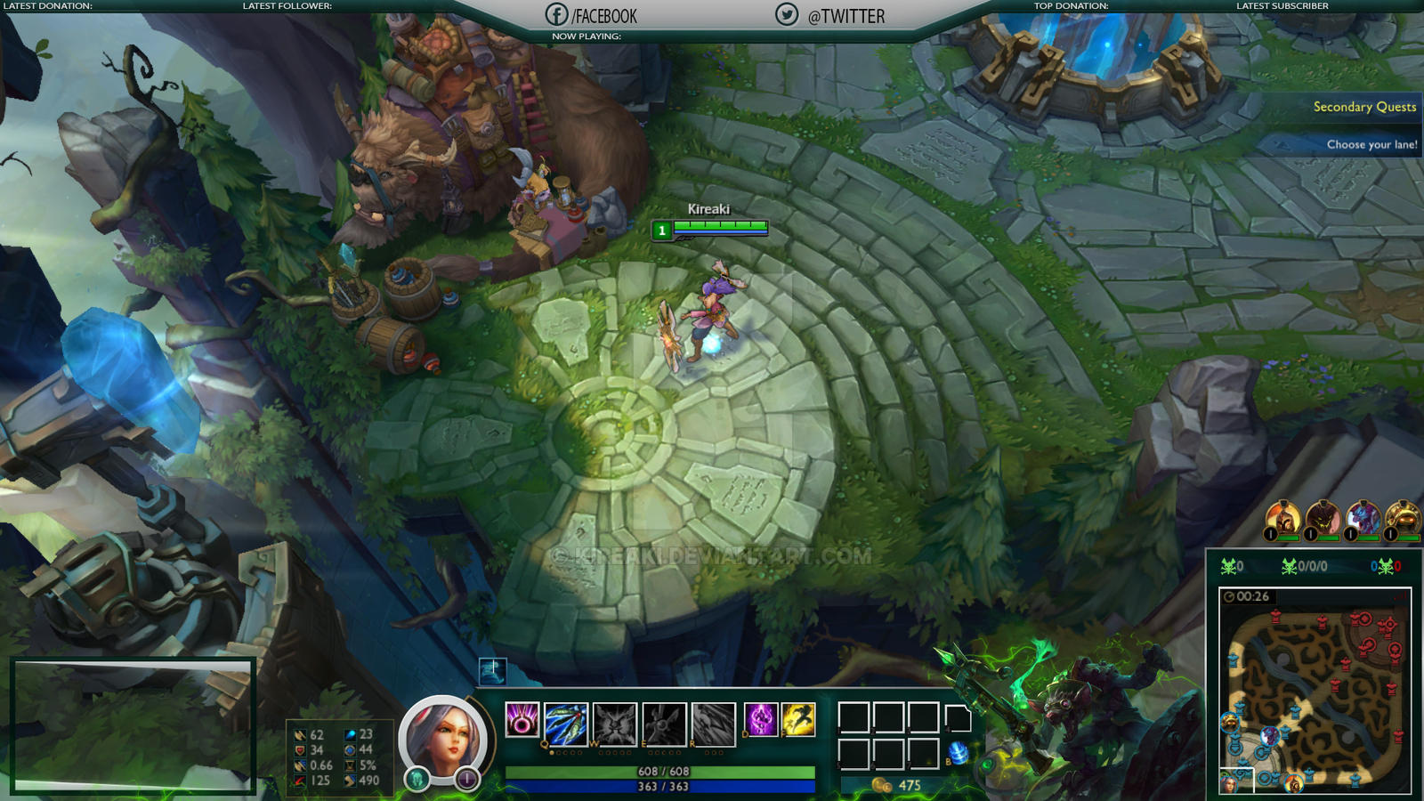 New Hud League Of Legends Overlay By Kireaki On Deviantart