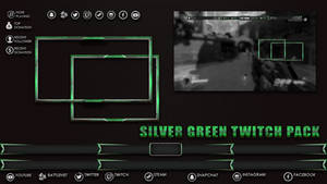 Green Silver Twitch Tream Pack In Game Elements by Kireaki