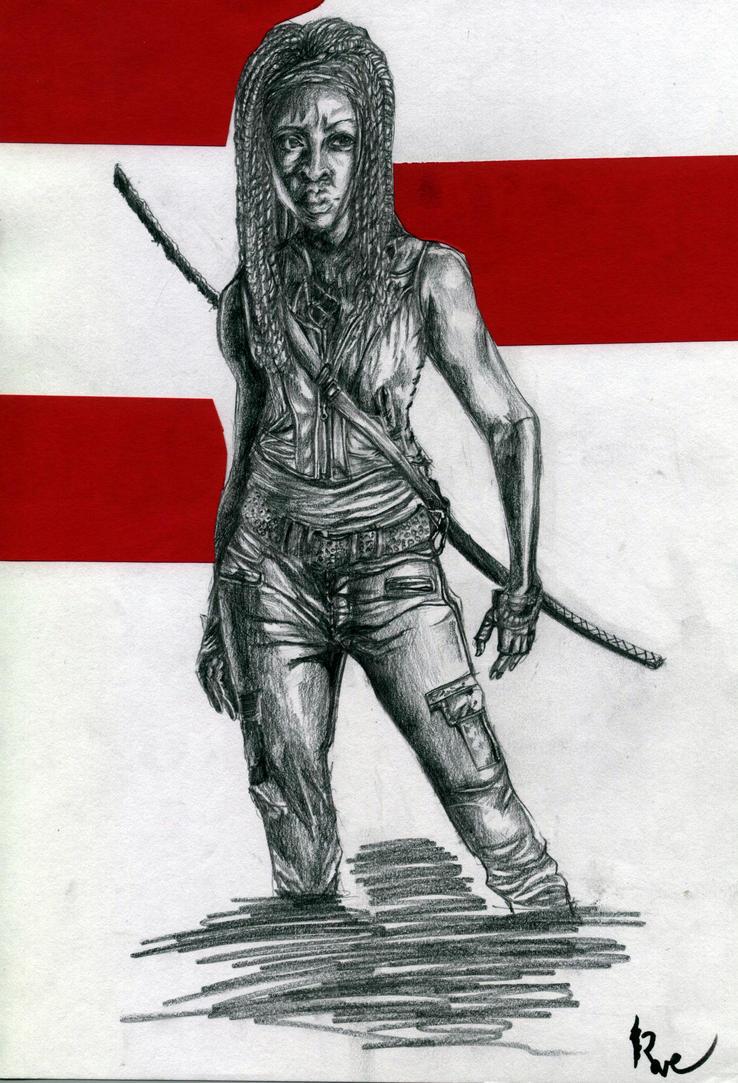 Michonne by rave-kunn