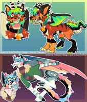 Adoptables Collab with SoxzTheWolf (open)