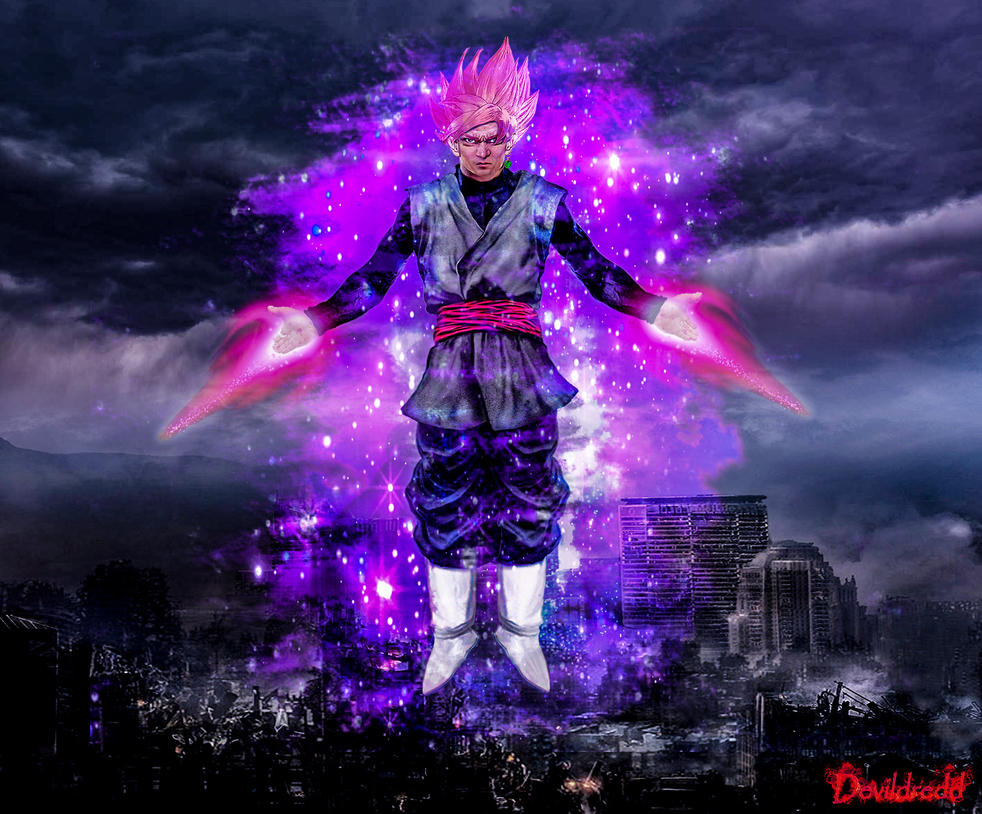Black goku rose by devildredd