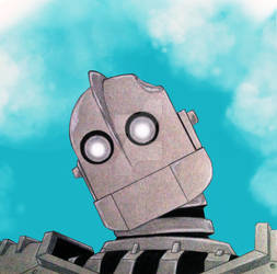 Iron Giant with sky background by Lonewolf521