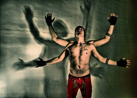 the man with 4 arms by LDF71