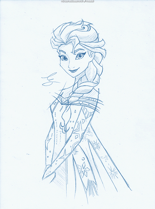 Elsa ''Frozen'' by PeterPansShadow13