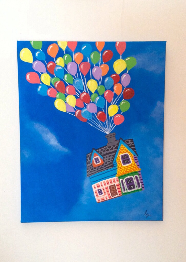 Adventure Is Out There Up Acrylic Painting By
