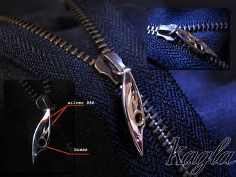 rabbit leef zip tag by kagla