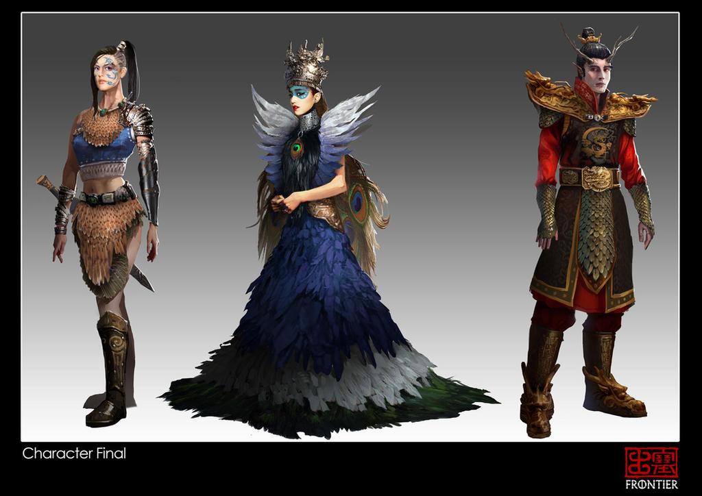 Frontier Character Designs by KoweRallen
