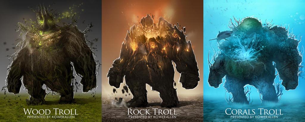 Elemental Troll design by KoweRallen