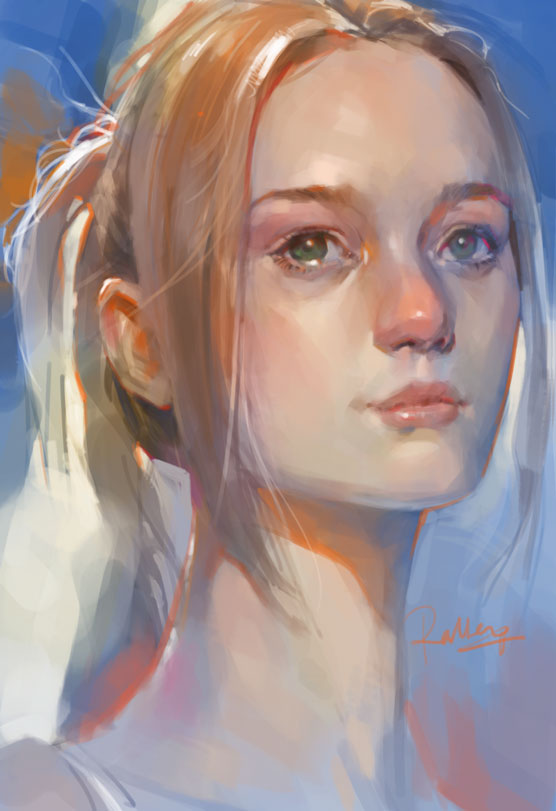 Portrait Female by KoweRallen