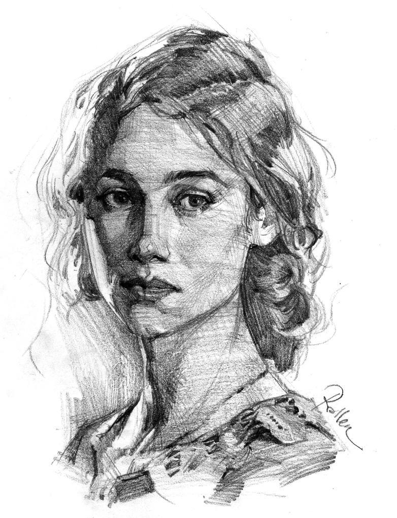 Portrait Sketch by KoweRallen
