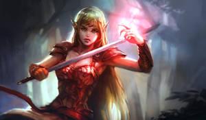 Elf Warrior by KoweRallen