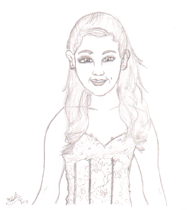 coloring pages of ariana grande - ariana grande by itsmemelb on deviantart