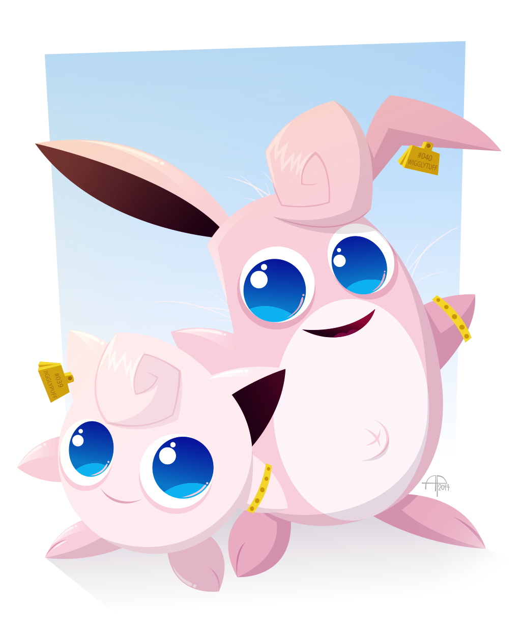 jigglypuff and wigglytuff final by placitte2012 on