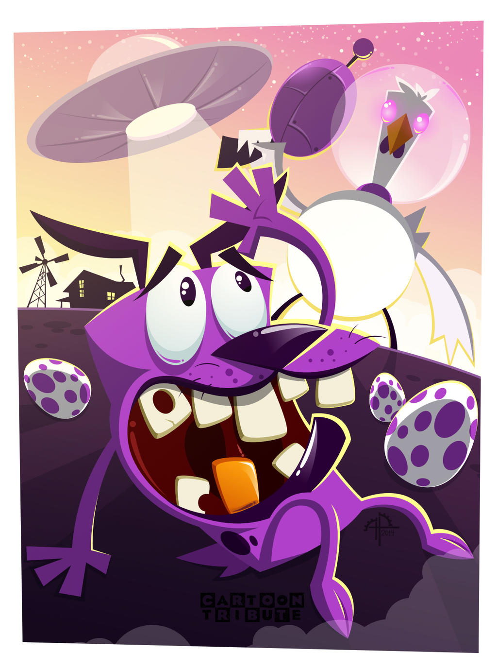 Courage, The Cowardly Dog (final) by placitte2012