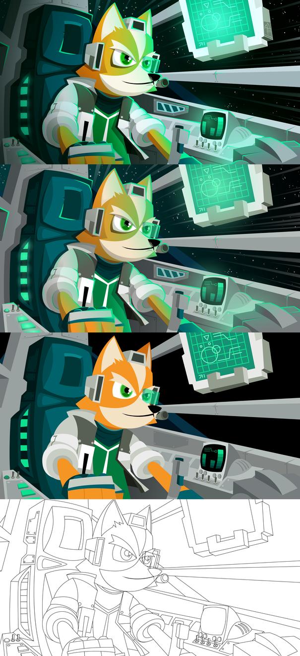 Fox McCloud (process) by placitte2012